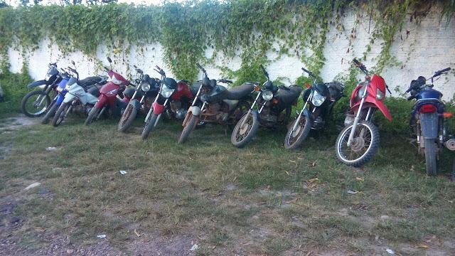 PM de Chapadinha recupera mais 11 motos roubadas, na zona rural