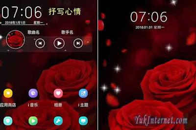 tema vivo red rose