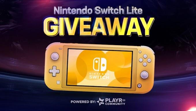 Sorteio de um Nintendo Switch Lite Yellow