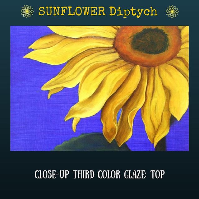 CLOSE UP Third color glaze TOP Sunflower