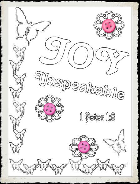 Joy Bible Craft Ideas