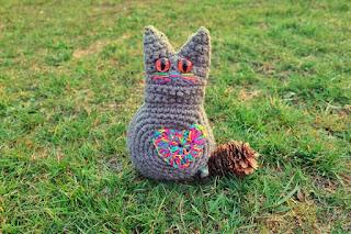 szydełkowy kot kotek handmade