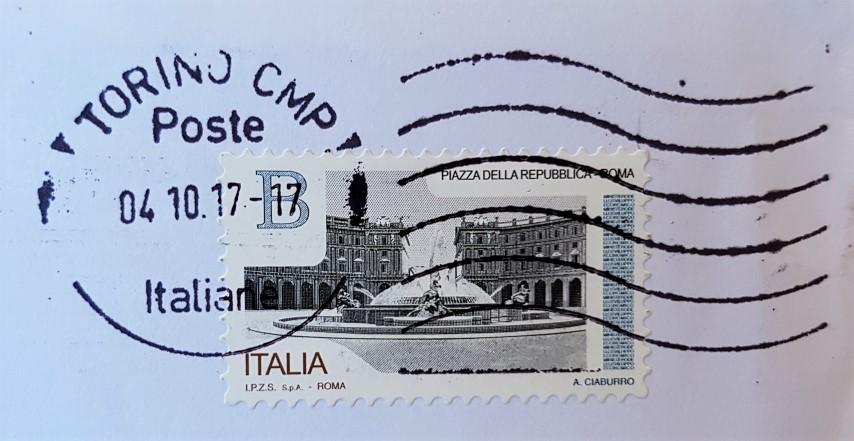francobollo Piazza della Repubblica Roma