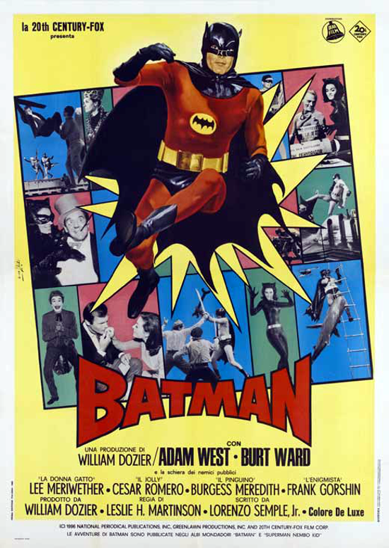 Batman movie 1966 Italian poster 1-2