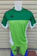 Jual jersey setelan futsal Adidas Hijau super color 2015