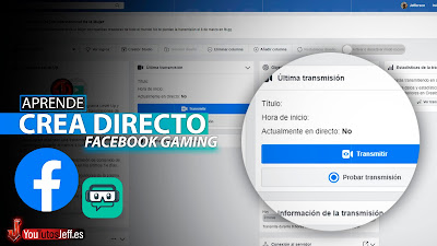 como hacer un directo en facebook gaming