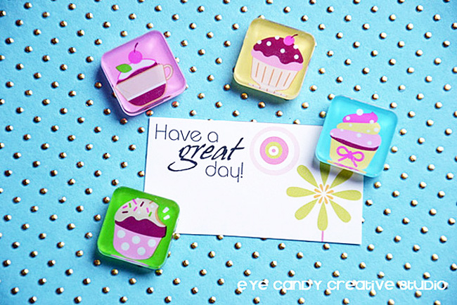 have a great day mini card, think spring collection , spring gift idea