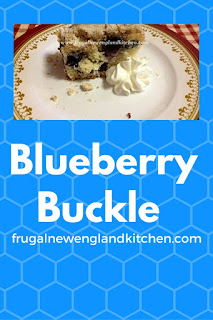 Blueberry Buckle Recipe for Coffee Cake