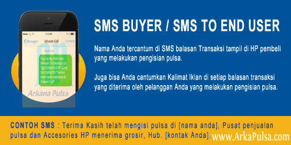 Cara Setting SMS End User/Buyer Pelanggan Server Arkana Pulsa CV Sinar Surya Suryandaru Blora