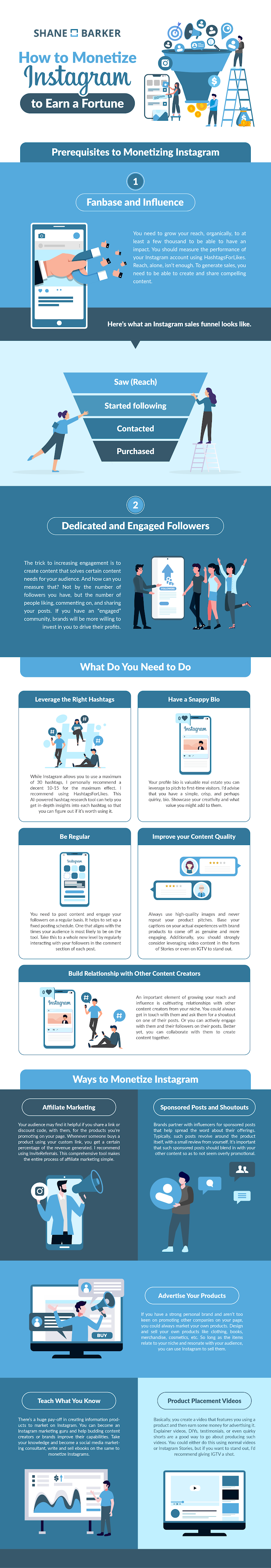 How to Monetize Instagram to Earn a Fortune #infographic