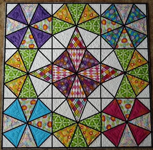 Diamond Star Halo Quilt Pattern