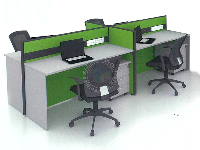 Workstation Cluster of 4 c/w Rectangular shape table