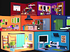 Free Iclone Props - ISOMETRIC ROOMS by Brynn
