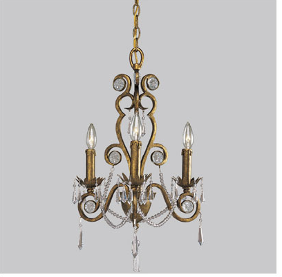 Dwell And Tell How To Paint A Chandelier Antique Finish