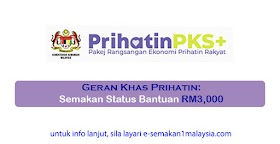Geran Khas Prihatin: Semakan Status Bantuan (RM3,000)