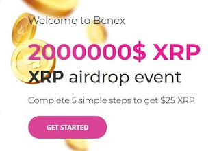 Gratis Bonus Crypto Airdrop $25 (XRP) - BCNEX
