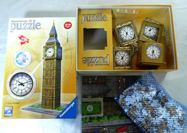 Building Big Ben - a 3D Ravensburger Puzzle