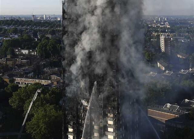 حريق هائل فى برج سكنى فى العاصمة البريطانية لندن