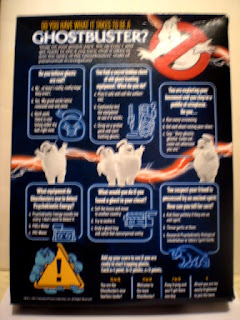 Back of Ghostbusters Afterlife Cereal Box