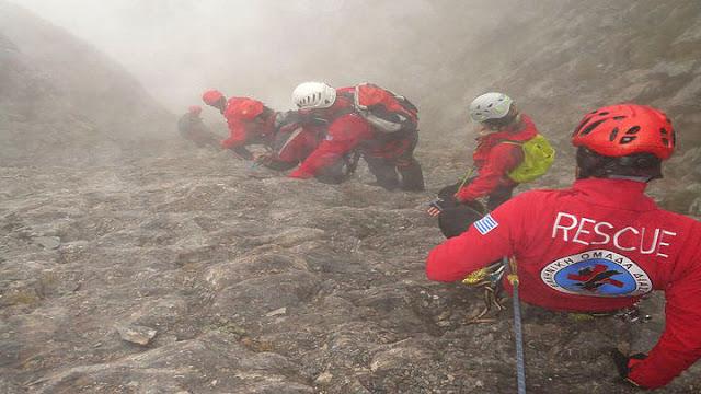 Ορειβάτης ανασυρθηκε νεκρός από τον Όλυμπο