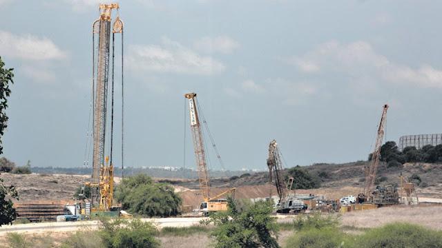 Israel construye un muro subterráneo