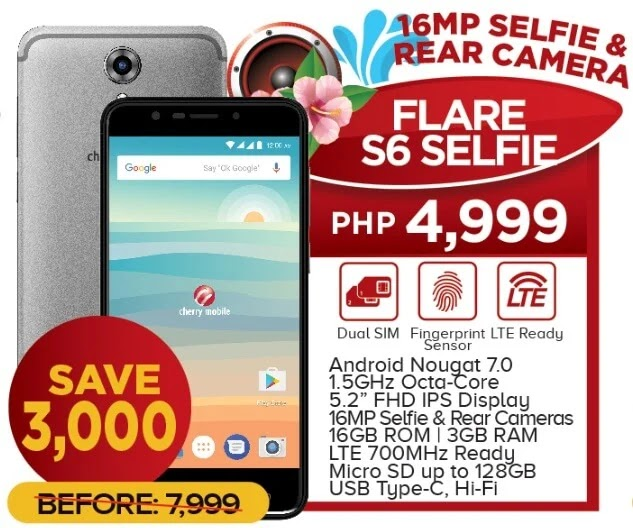 Cherry Mobile Flare S6 Selfie Now Only Php4,999