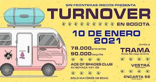 Concierto de TURNOVER en Colombia