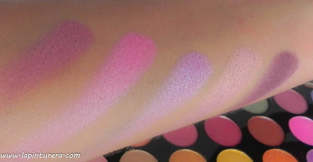 Paleta Exhilarate swatches 06