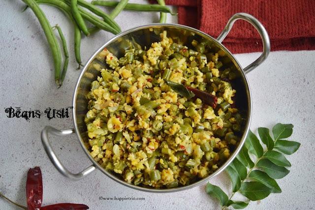 Beans Parupu Usili Recipe