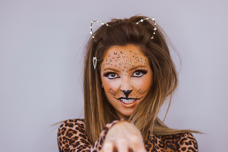 halloween leopard makeup tutorial