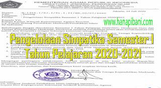 Surat Edaran Pengelolaan Simpatika Semester I Tahun 2020/2021
