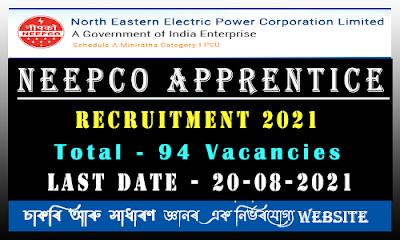 NEEPCO Apprentice Recruitment 2021(94 Vacancy)