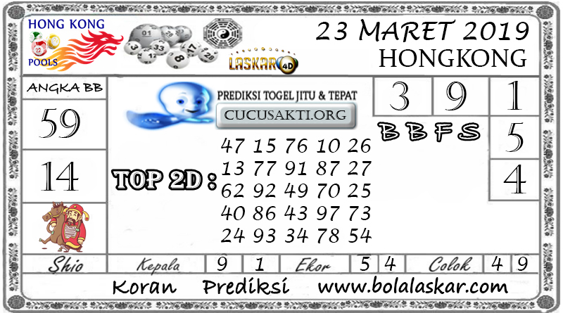 Prediksi Togel HONGKONG LASKAR4D 23 MARET 2019