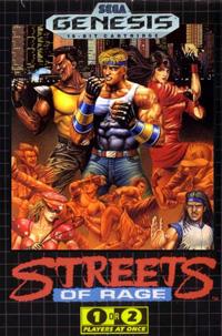 Imagen con la portada del videojuego Streets of Rage para Sega Genesis o Sega Megadrive