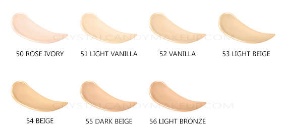 Bourjois Healthy Mix Anti-Fatigue Foundation New Formula Shades Swatches