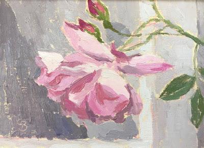 #73 'Pink Rose' 5×7″