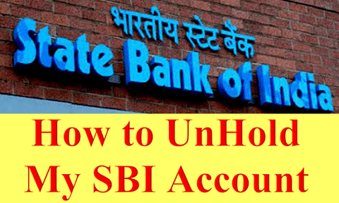How to UnHold My SBI Account