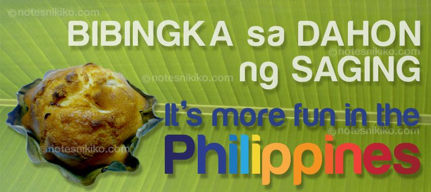 Bibingka sa Dahon ng Saging - It's more fun in the Philippines