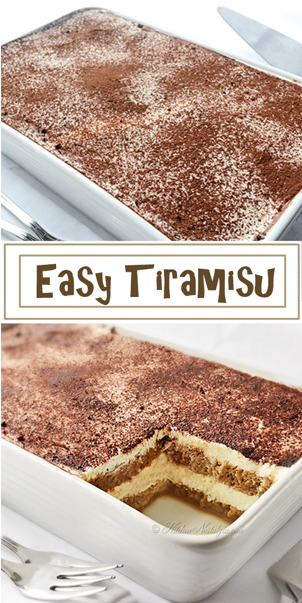 Easy Tiramisu Recipe #dessertrecipes