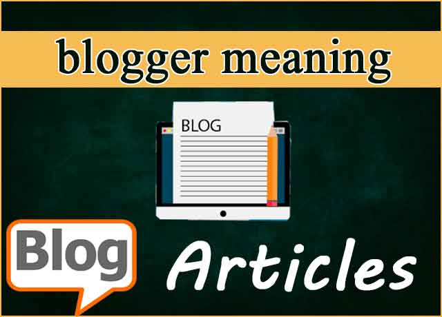 blogger-meaning