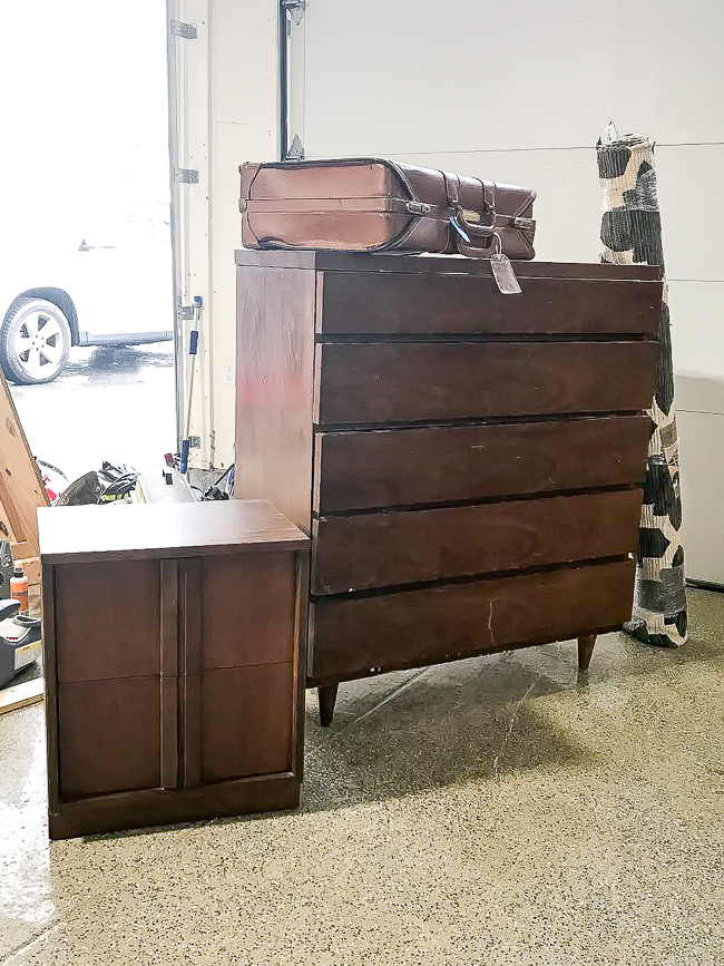 MCM dresser and side table