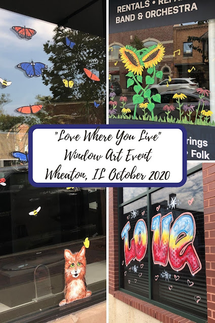 "Celebrating Local Art and Local Business during Wheaton's ""Love Where You Live"" Window Art Event October 2020"