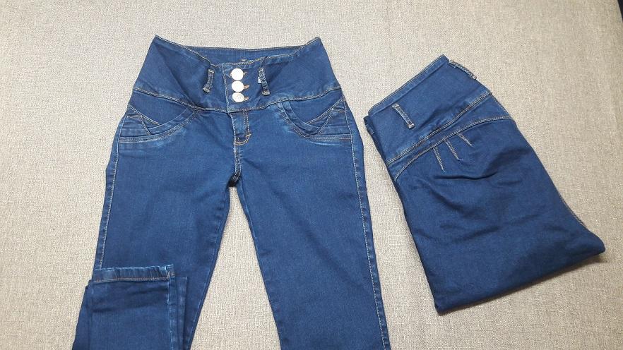 Jeans Color Mezclilla para mujer visto de Frente