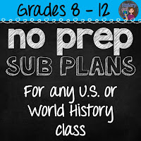 https://www.teacherspayteachers.com/Product/No-Prep-Emergency-Sub-Plans-for-any-US-or-World-History-Class-1853369
