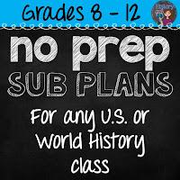 https://www.teacherspayteachers.com/Product/No-Prep-Emergency-Sub-Plans-for-any-US-or-World-History-Class-1853369