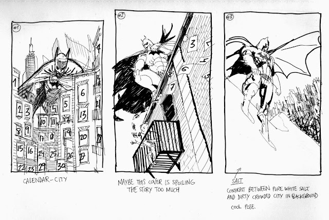 DETECTIVE COMICS ANNUAL cover progress by Guillem March