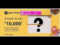Amazon Quiz Answers Time Daily @ 24 HRS on 17 Feb 2021 Win 10,000