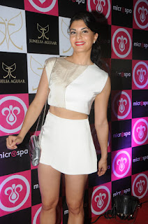 Sexy Nude Legs of Jacqueline Fernandez in Spicy Micro Mini White Skirt and Crop Top Beautiful Jacqueline Fernandez
