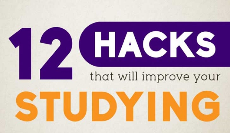 12 Unusual Study Hacks for College Students #infographic