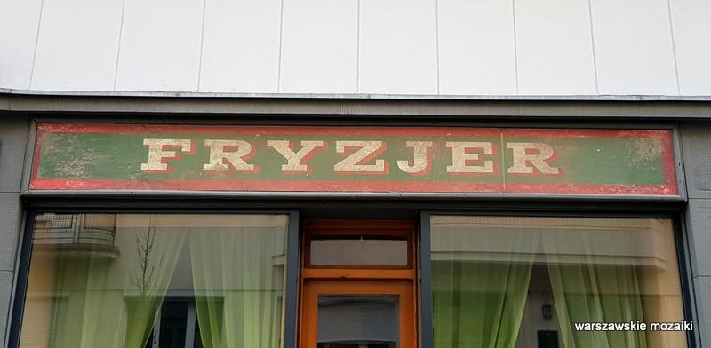 Warszawa Warsaw retro szyld warszawskie szyldy  fryzjer